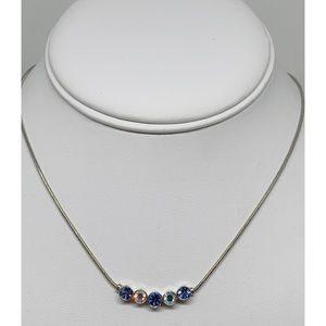 Lia Sophia Silver Necklace with Crystals